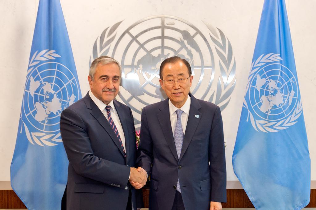 President Akıncı met with the UNSG Ban Ki-moon in New York. #UNGA #UN http://t.co/nldQ8iKp8U