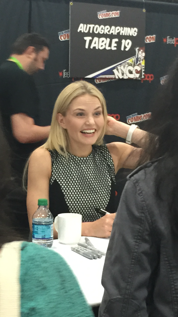 Here is @jenmorrisonlive signing autographs at @NY_Comic_Con #NYCC #OUAT @OnceABC @UDucklingsInc http://t.co/xYqkomLxEs