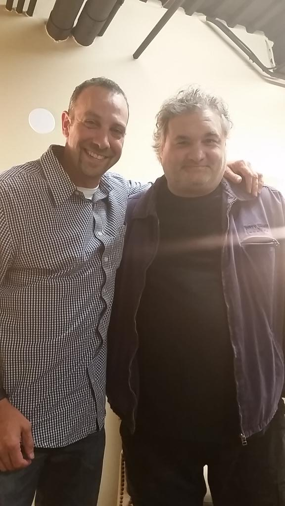 With my pal @artiequitter at #TheSpace in Westbury. Great to see my long time friend again! #ARTIEQUITTER http://t.co/ztWAp3PkVK