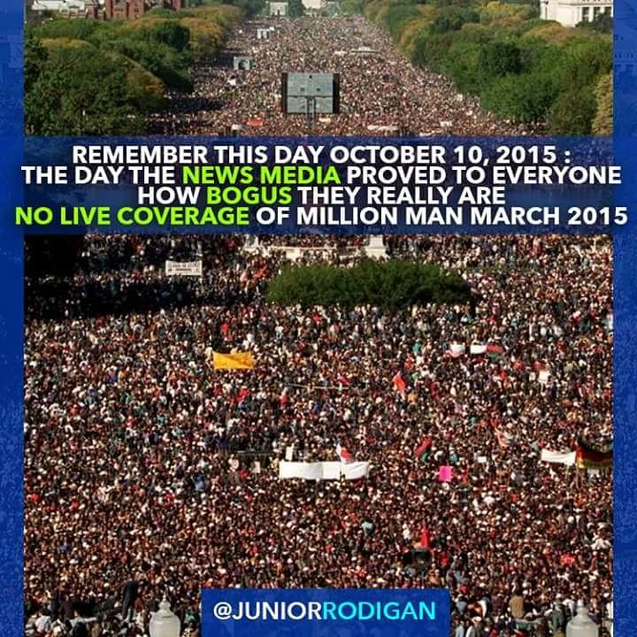 Today our so-called NEWS MEDIA proved to everyone how BOGUS and BIASED they truly are. #MillionManMarch #NoCoverage http://t.co/JXGcxAEDP0