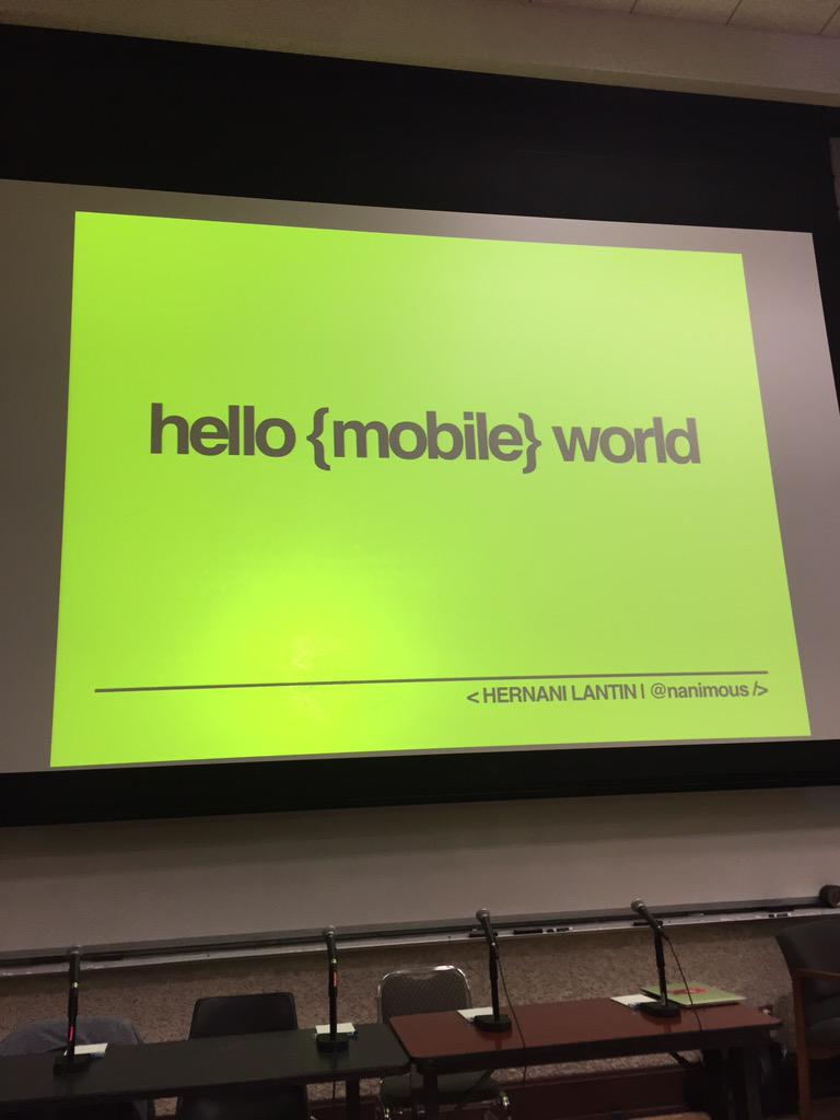 """Love this updated approach to the classic """"Hello World!"""" #LatinoCoders @HHFoundation #Loft http://t.co/vRCNEO4vUs"""