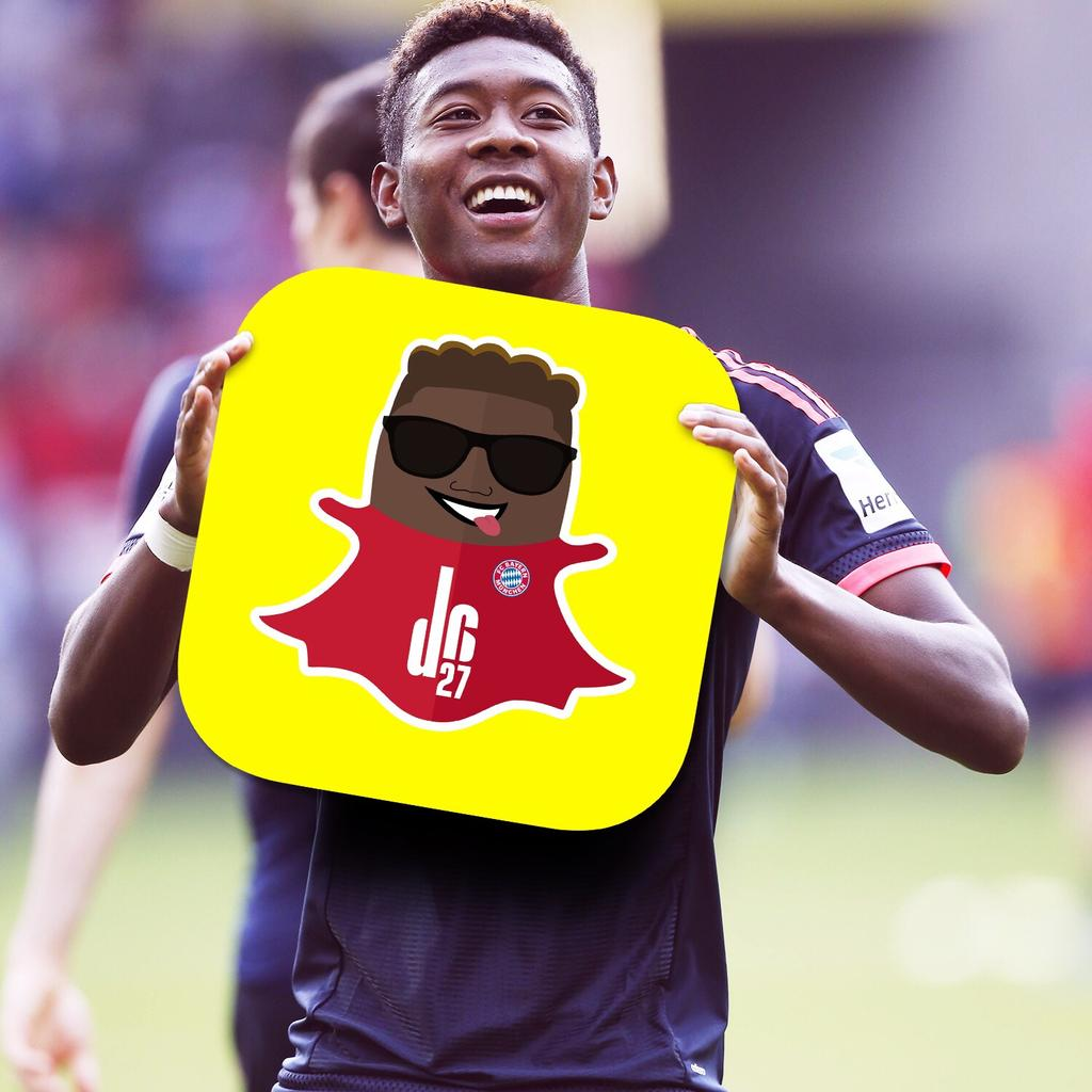 "David Alaba on Twitter ""Check out my brand new Snapchat account"