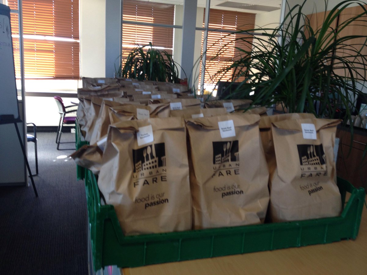 Thanks @urbanfare for sponsoring  lunches for our full day #DoorsOpenVan volunteers! Yum! http://t.co/wVDjPaXQFi