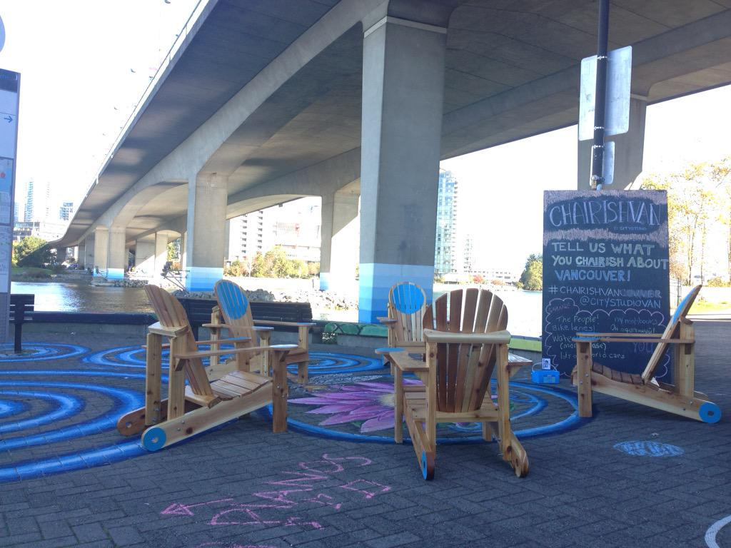 Come check out these awesome chairs on the sea wall  as part of @DoorsOpenVan #chairishvan http://t.co/aBQXtaGlbj