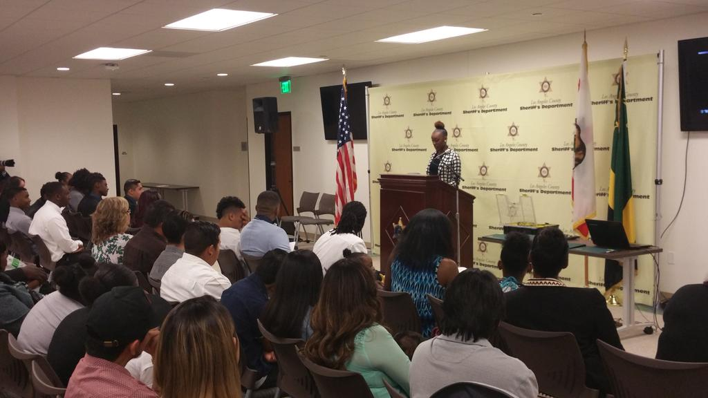 Our future leaders Sheriff's Youth Mentoring Career Guidance Program thank you @mridleythomas @LASDHQ