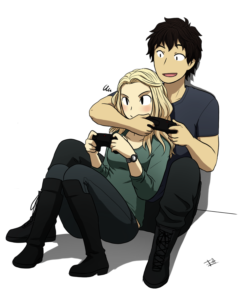 Fa Panini On Twitter Bellamy Clarke Playing Video Games Bellarke Shippers This Is For You The100 Tco PEcG3caOXc