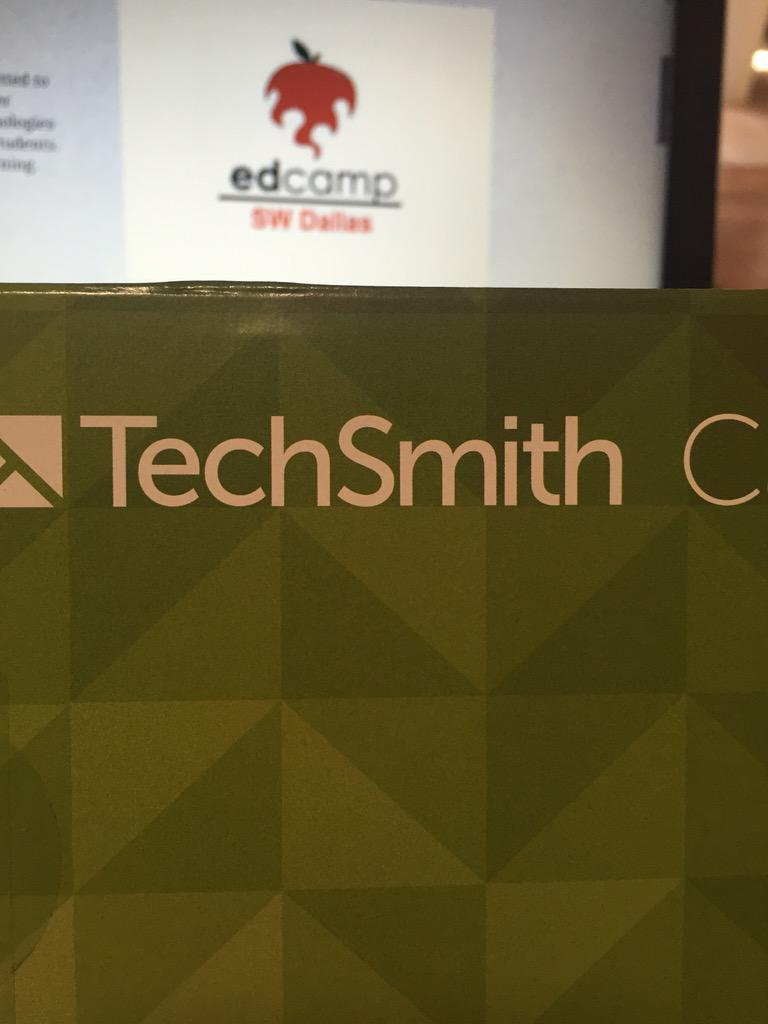 Thanks @TechSmith for sponsoring @edcampswdallas! We had a great day of sharing and learning. #edcampswd http://t.co/7KZXhZwxXH