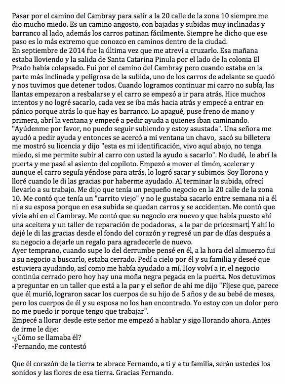 Ésta historia llega y desgarra el alma y el corazón. Fernando, un verdadero ángel. Gracias por compartirla @h_fabiola http://t.co/NqzBJRFl8e