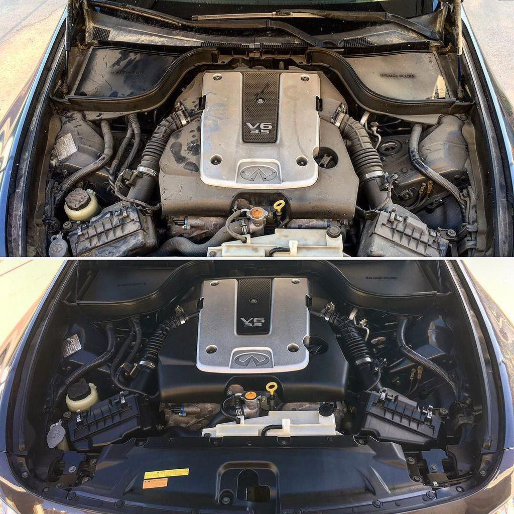 "1jz Engine G35: Infiniti Agora On Twitter: ""G35 Engine Bay Clean Up. Pre"