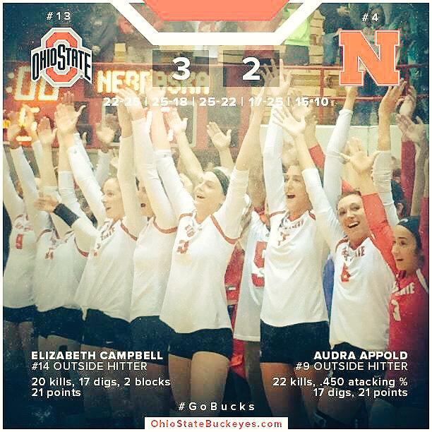 So proud of @elizcampbell17 @AudraAppold @andreakacsits4 @luluschirmer #BuckeyeNation #watchoutPennSt http://t.co/pZB9ENQoOW