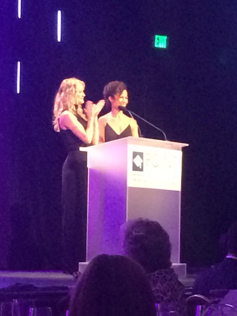 Having a fab time at @PointFoundation #VoicesOnPoint event - here's @TeriPolo1 and Sheri Saum #TheFosters http://t.co/q5wI7hq6H8