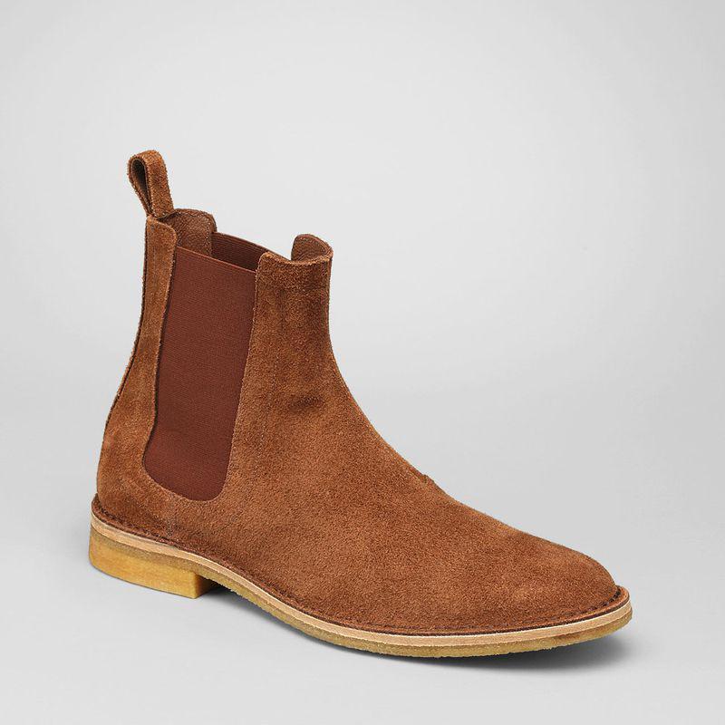 tupiem fashion on twitter 2pm junho bottega veneta brown buffalo leather chelsea boots. Black Bedroom Furniture Sets. Home Design Ideas