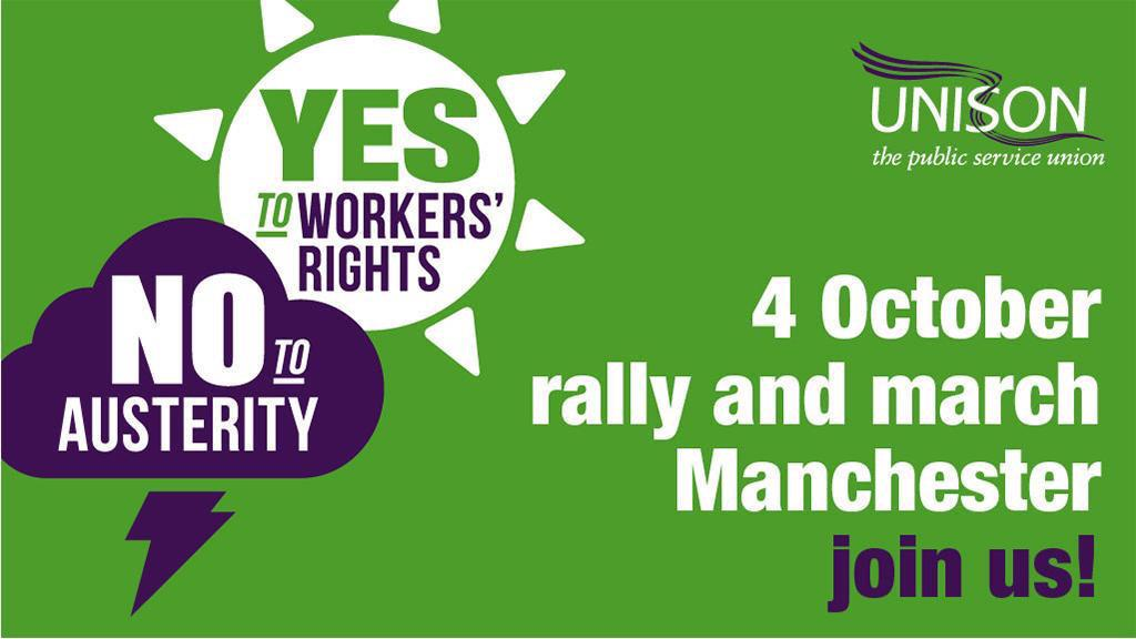 #BarnetStrikers on coach to #Manchester for #No2Austerity demo. Come & join us by our banner http://t.co/amKQbIoXK7