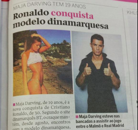 Ronaldo dating danish model