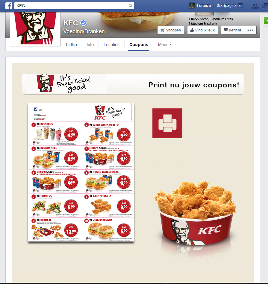 image relating to Kfc Printable Coupons identify Kfc canada discount coupons nl : Bargains inside of las vegas