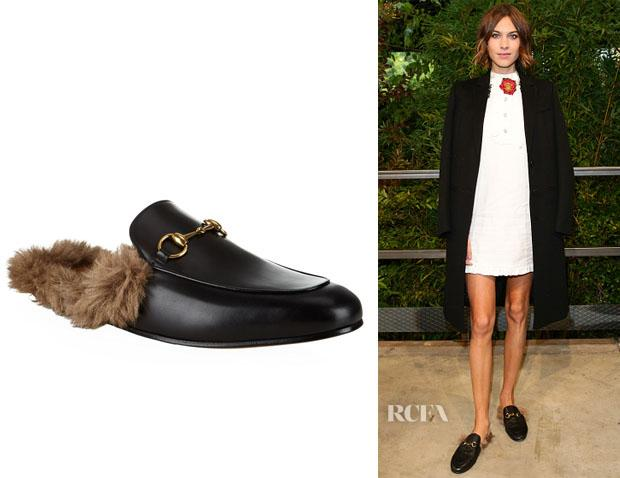 19123f7df01 Alexa chung s gucci princetown leather slippers - scoopnest.com