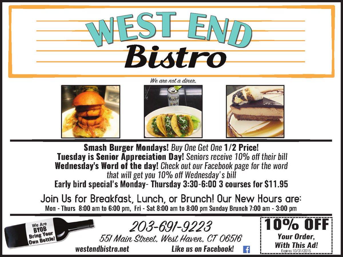 West Haven Voice On Twitter Featured Advertiser West End Bistro
