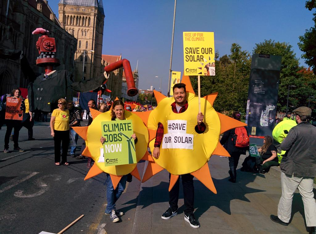Government solar cuts risk 20,000 jobs! We say #saveoursolar! #No2Austerity #TakeBackMCR https://t.co/xye1XunEvA http://t.co/mmzwxwCPYe