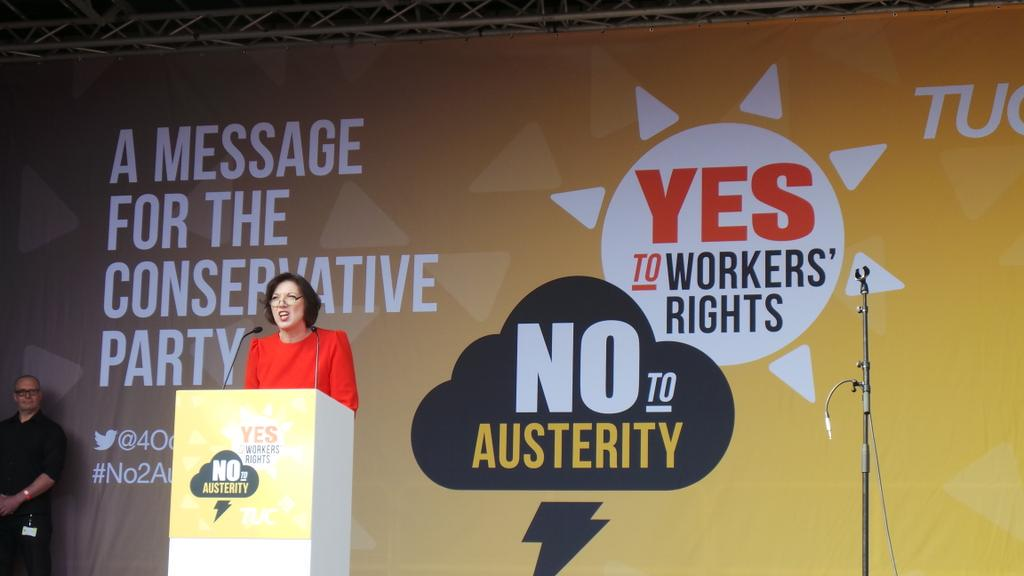 """Look around this march. This is the real Northern powerhouse"" - @FrancesOGrady takes the stage at #No2Austerity http://t.co/pXOfMRWFzj"