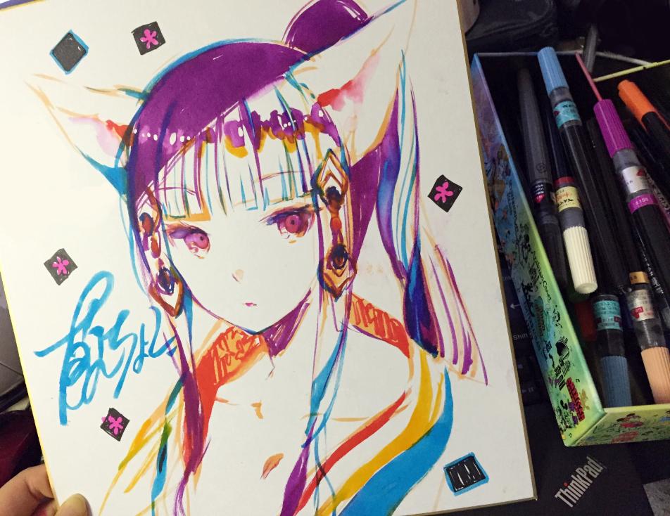 藤ちょこ藤原 On Twitter 色紙描くのにもカラー筆ペン良さそう Http