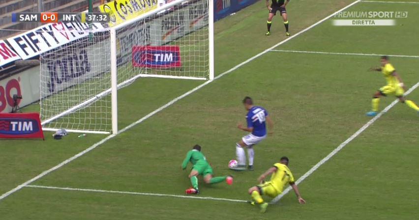 SAMPDORIA-INTER 1-1 Video: Risultato deciso da Perisic in rimonta a Muriel