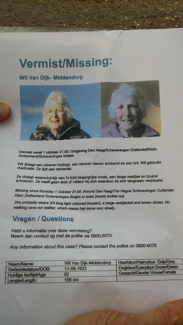 Please RT. Mevrouw vermist in Den Haag http://t.co/A5cV9LB0rl