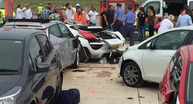 Incidente Porsche 918 Spyder a Malta con feriti.