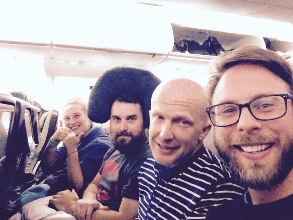 Four directors on a plane. Row 74. Value for money anyone? #WeAreRestless http://t.co/C3Dvv0iY7Y