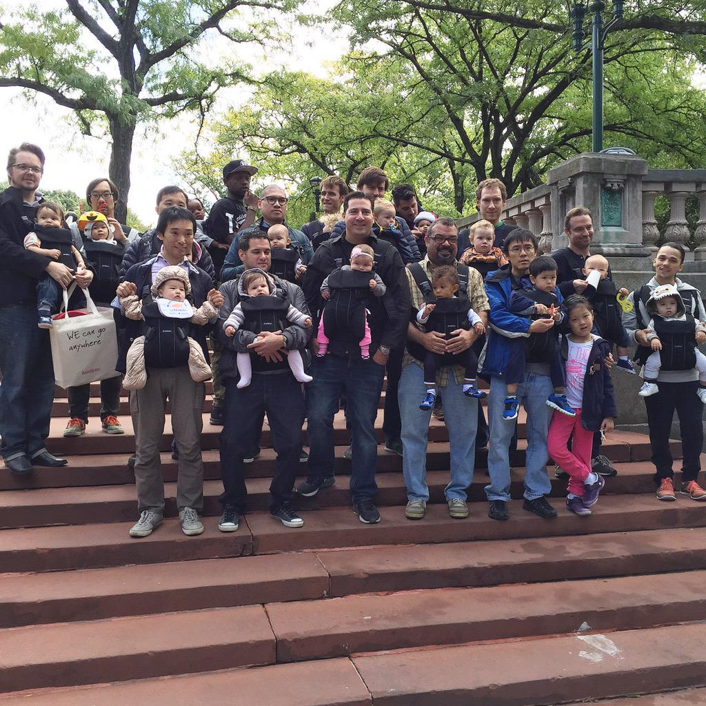 Boom! Babywearing dads infiltrating the @BronxZoo today! @BabyBjornUS @LoveRecycled #CityDads #IBW2015 #spon http://t.co/FrbVnTI8je