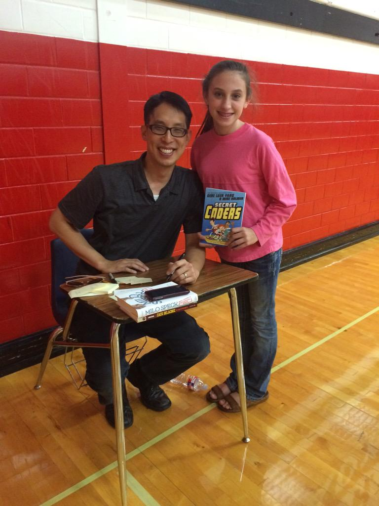 Thank you @01FirstSecond for sending @geneluenyang for #TweensRead this year! http://t.co/1k8Su0JKF1