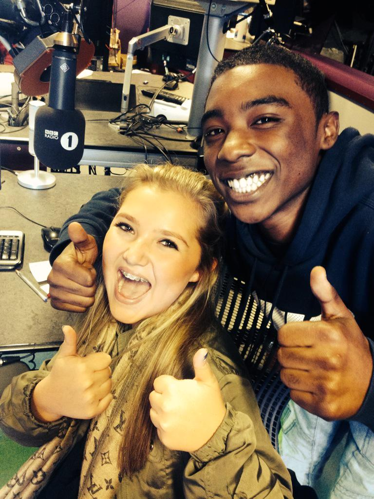 At @BBCR1 with @celspellman & @KaysMckellar loving @TheVampsband #expressyourselfie http://t.co/9qN97EyxBL