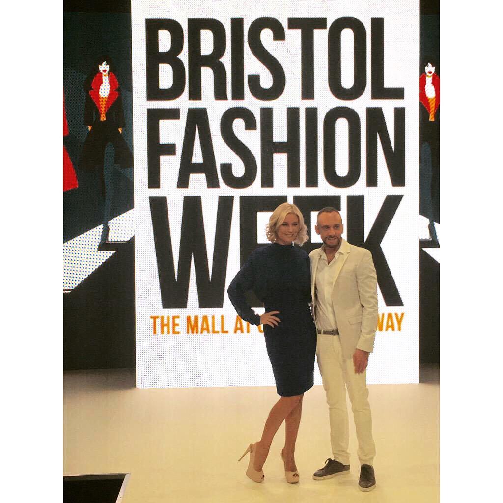 RT @fashionliveUK: Big thanks to our amazing #BristolFashionWeek presenters @MarkHeyes and @denise_vanouten http://t.co/hNwudd845N