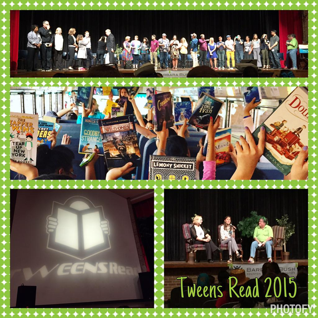 Great day yesterday at #TweensRead15 with students, authors & peers!  Thank you @BlueWillowBooks! #bjhnolimits http://t.co/Fq7qoxKIDS