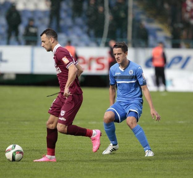 Velkoski during the match