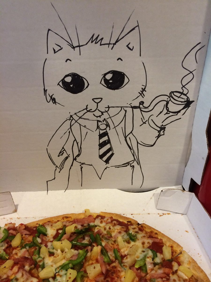 "Welp, somebody really delivered on our ""draw a cat on the box"" special delivery instruction: http://t.co/vm9Wq7Sj4w"