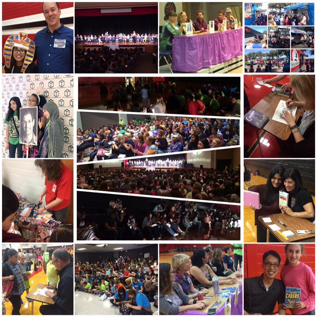 An amazing @tweensread event with approx 2,000 attendees! I'm so proud to be a part of it. #TweensRead http://t.co/2NAxdT7Fcy