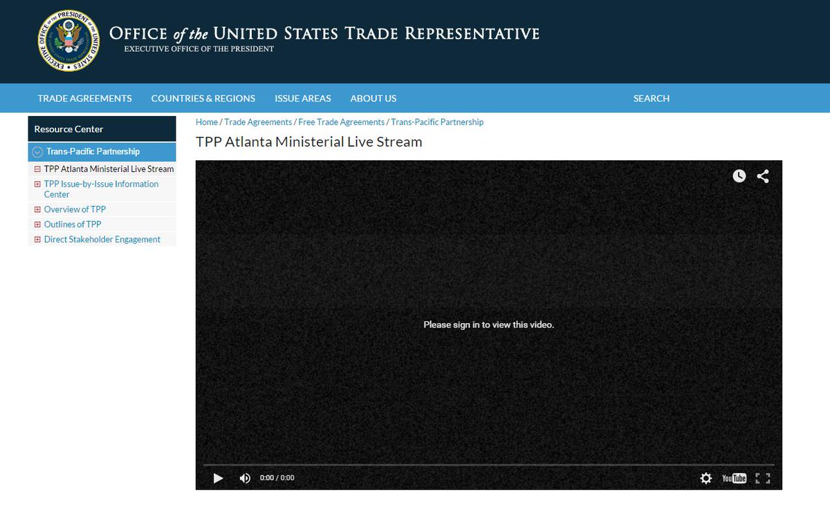 ... And the #TPP livestream has just fuzzed out and gone private. Like some kind of metaphor, innit? http://t.co/lX09HuIFgt