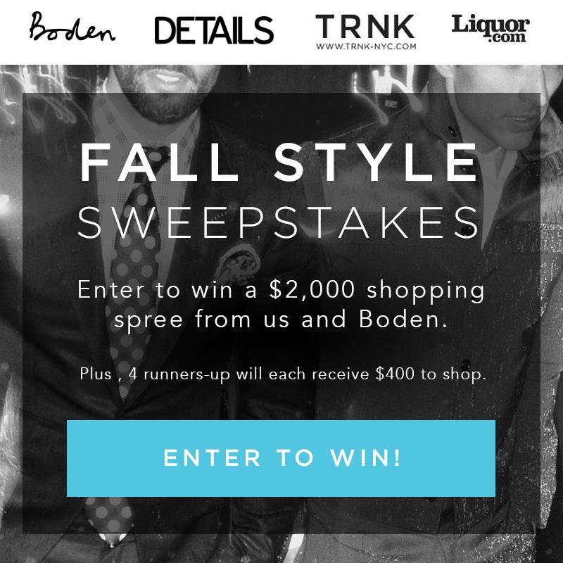 Just a few hrs left to enter our Fall Sweepstakes with @DETAILS, @Liquor & @Bodenclothing! http://t.co/dR8rgINgil http://t.co/70x9jx6HSm