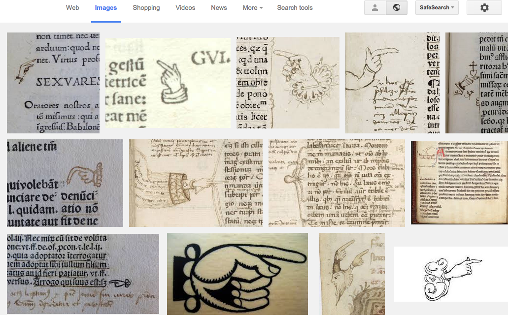 Are #manicules always shown as *male* hands? I guess it shouldn't surprise me... #maniculesplaining #medievaltwitter http://t.co/lB7C65ppN6