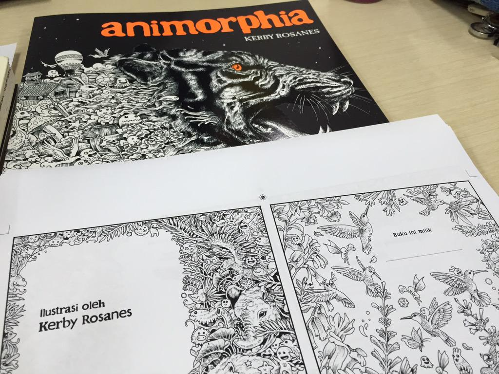 Dini P On Twitter Coming Soon Coloring Book For Adults Animorphia Gramedia By Kerby Rosanes Tco SZVOAPNQpy