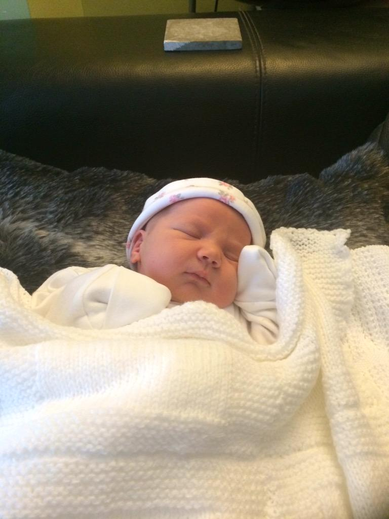 Thanks to everyone's messages- @Finnisgolf1878 and I are absolutely delighted and in love with baby Zara. http://t.co/JEYitn0ZTw