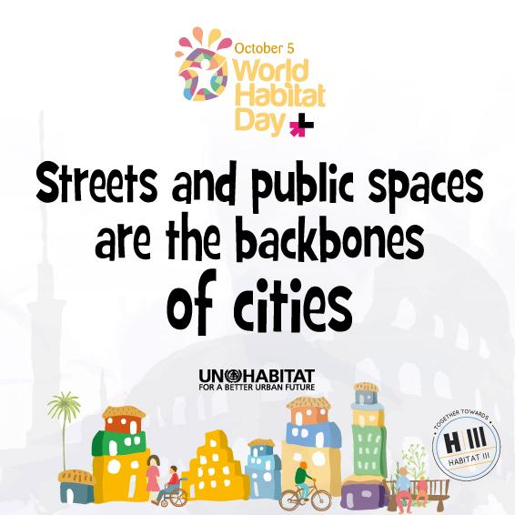 Streets, #PublicSpacesForAll are the backbones of cities: Happy World #HabitatDay!  #Post2015 http://t.co/LH2PJgjyn7 http://t.co/gUHrJbv02s