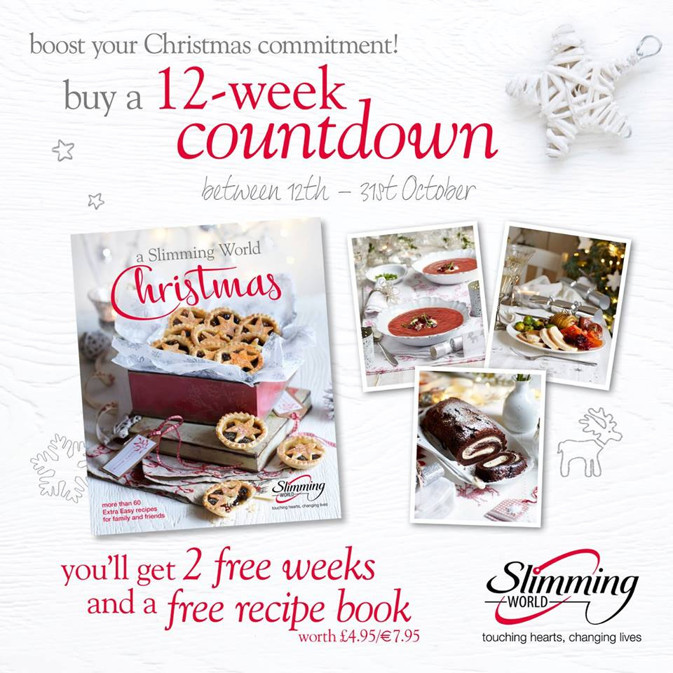 Slimming World On Twitter Commit To 12 Weeks Membership Between 12th 31st Oct Get A Free Slimmingworld Christmas Recipe Book Slim4xmas