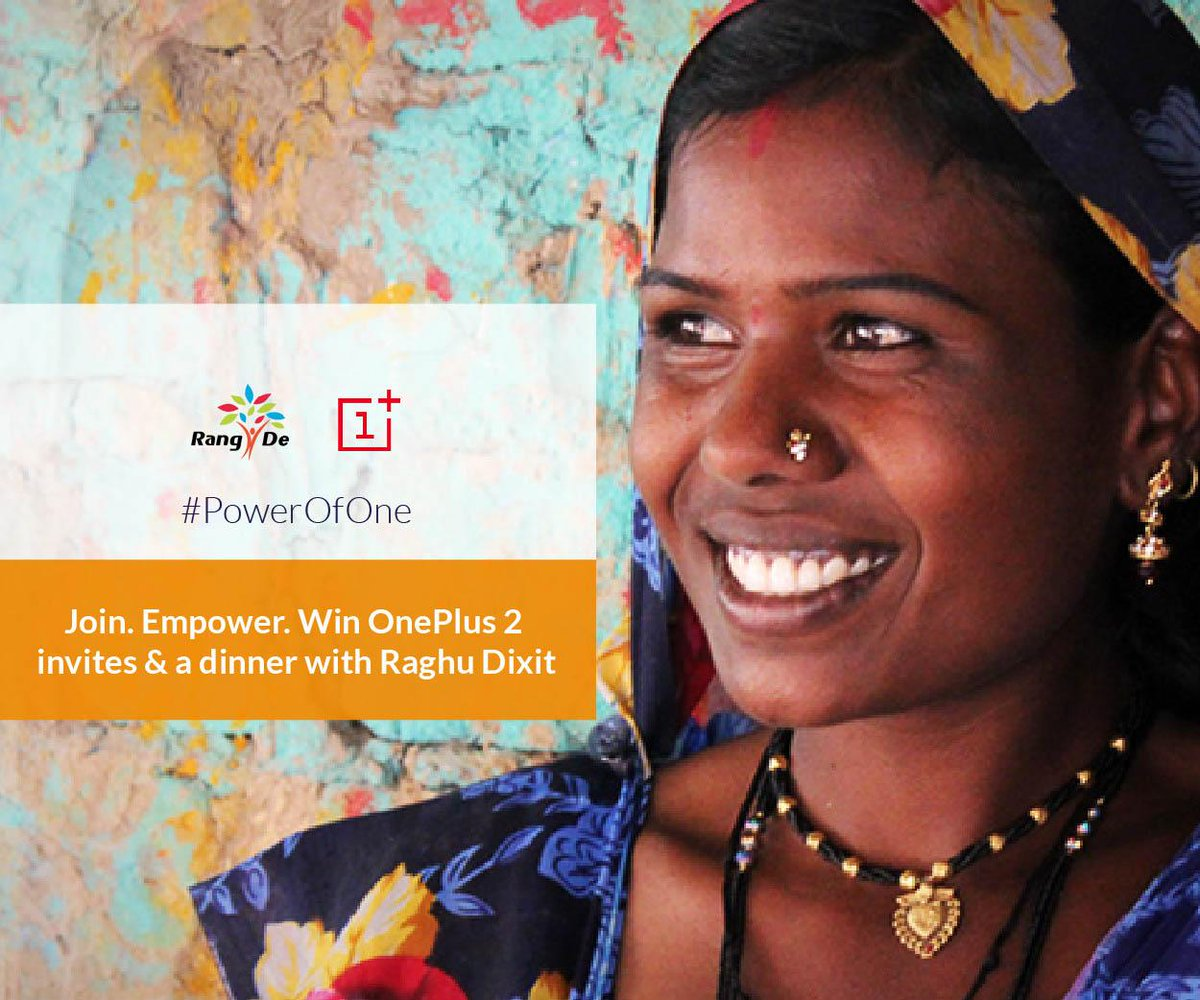 Thrilled that @OnePlus_IN & @Raghu_Dixit are supporting us for #JoyOfGiving. Join #PowerOfOne http://t.co/9h6ditEQI4 http://t.co/J6OteIgahQ