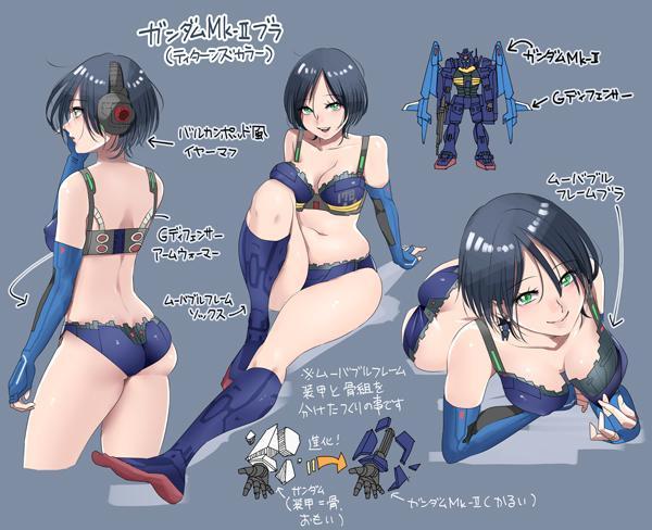 CQjRuZ1UEAAxQk   Bỏng mắt  với các thiết kế Bikini từ các Robot trong Mobile Suit Gundam