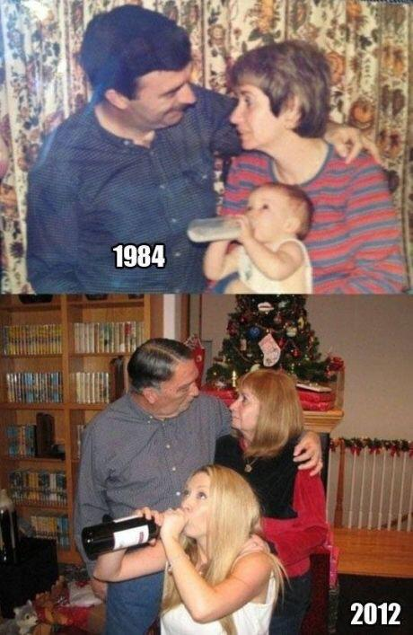 家族の肖像 昔 と 今 http://t.co/Dgti3uJLsw