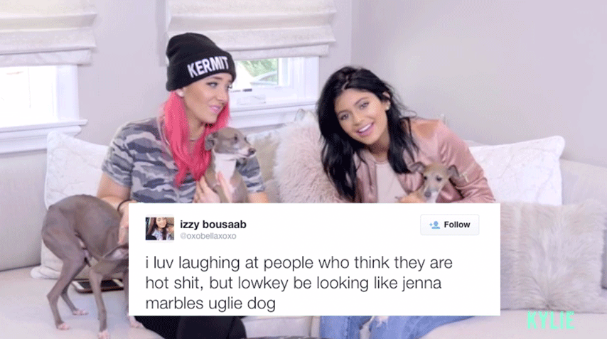 Christian Zamora On Twitter Kylie And Jenna Marbles Read Mean Tweets About Their Dogs And It Was Hilarious Http T Co Q5ujiupryf Buzzfeed Http T Co Hnh6q088a2 All posts must be related to jenna marbles or julien solomita. jenna marbles read mean tweets