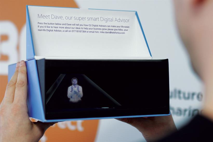 'Meet Dave': @o2businessuk sends personalised holograms to business customers http://t.co/zVFq5bfXyx @Campaignmag http://t.co/W0TKXDZFJY