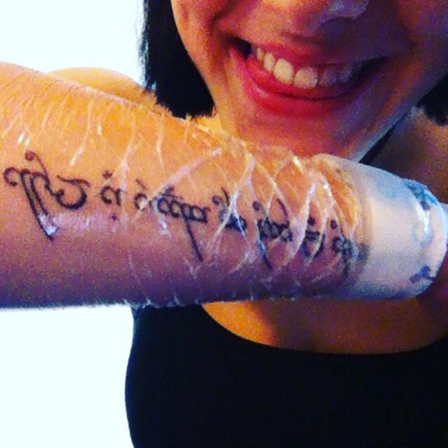 Meh On Twitter I Got My First Tattoo Today Im In Love With It