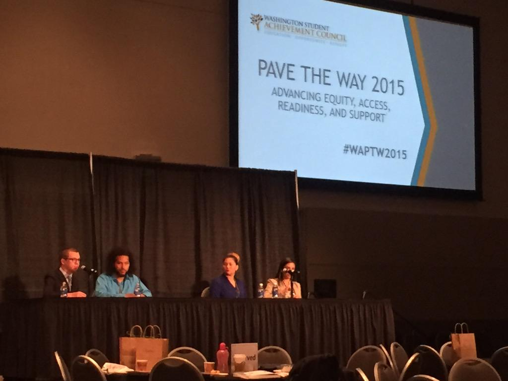 Outstanding student leaders sharing the many barriers they've overcome to succeed in higher ed. #WAPTW2015 http://t.co/rBfuJ3TjEP